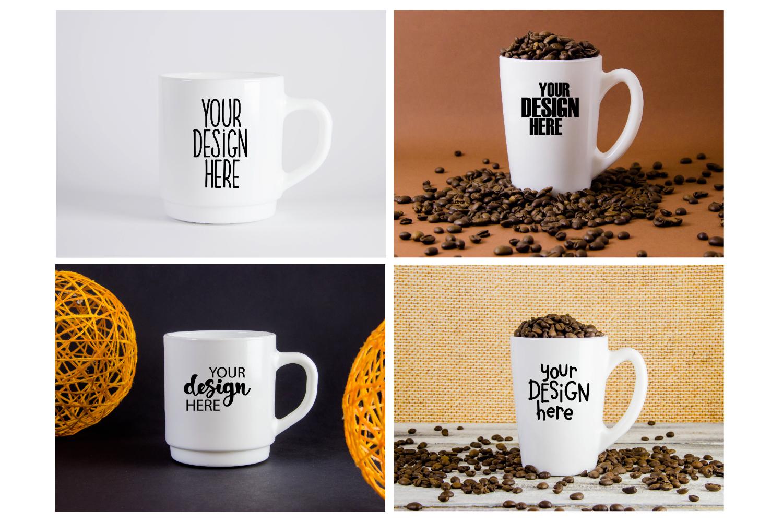 Mug mockup bundle 3, coffee cup, stock photo bundle example image 2