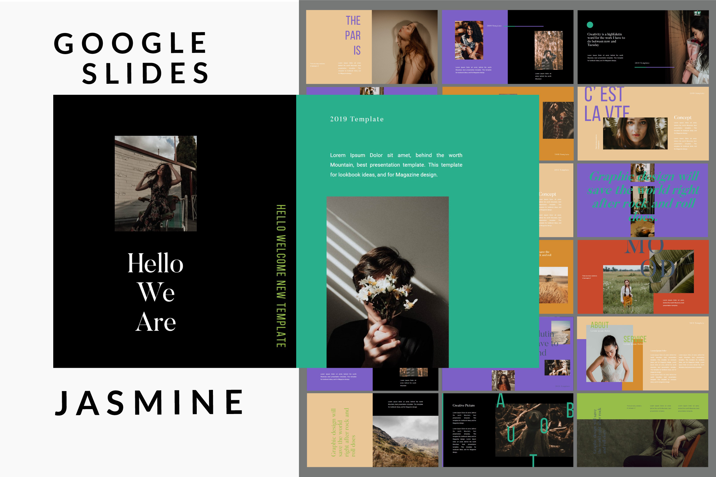 Jasmine Dark Lookbook - Fashion Google Slides example image 1