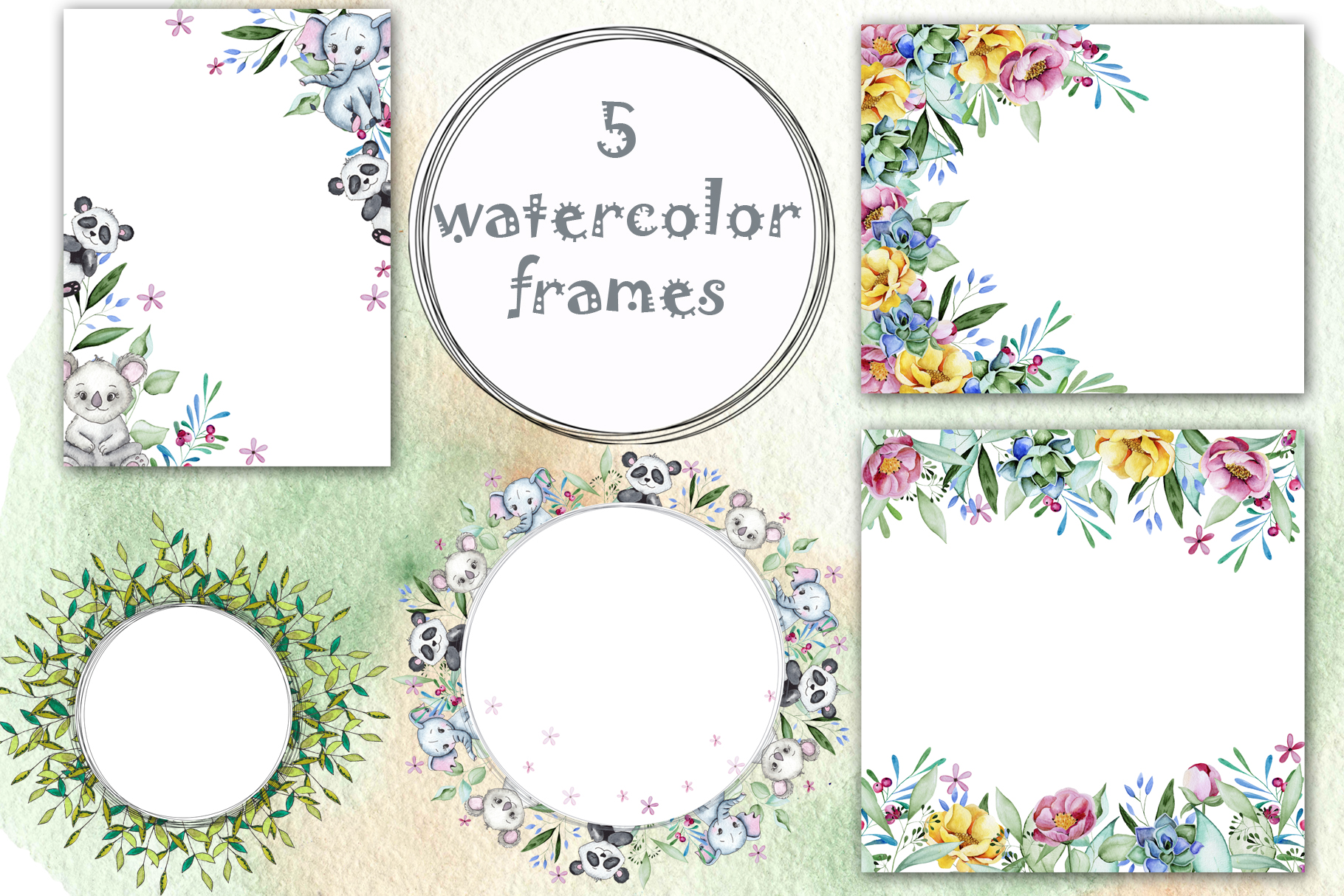 Watercolor childrens collection example image 13