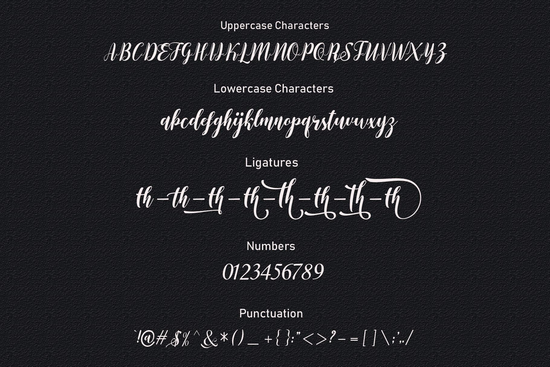 Elvitha Script example image 16