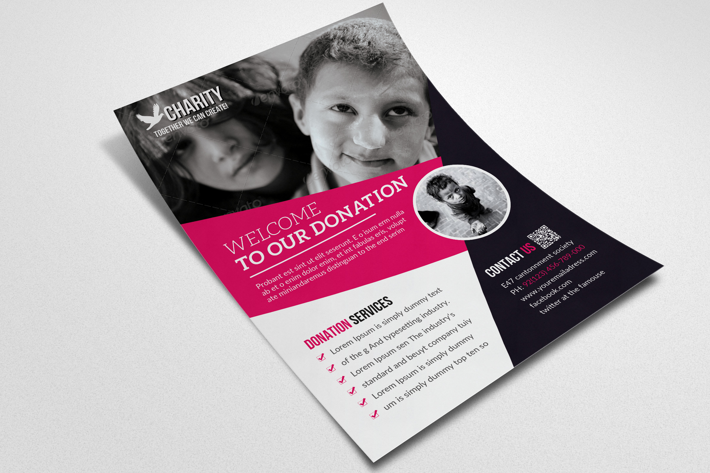 Charity & Donation Flyer Templates  example image 3