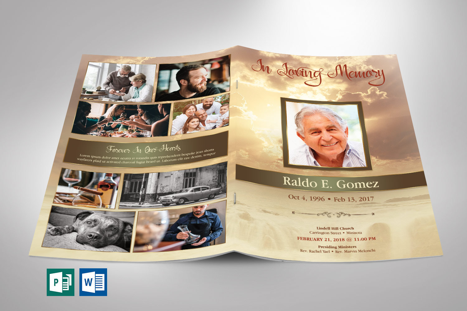 Best Seller Funeral Program Template Bundle example image 2