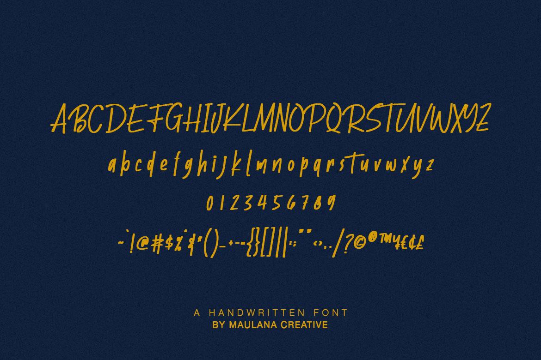 Batllers Handwritten Font example image 10