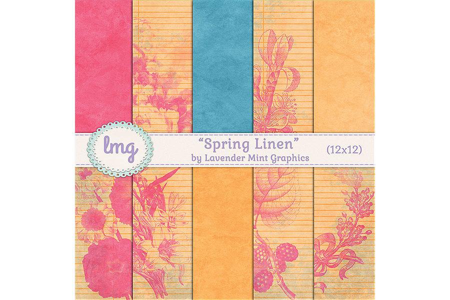 Spring Linen Paper Pack