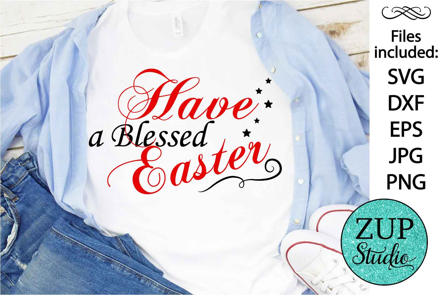 Blessed easter Digital Cutting files file 55 example image 1