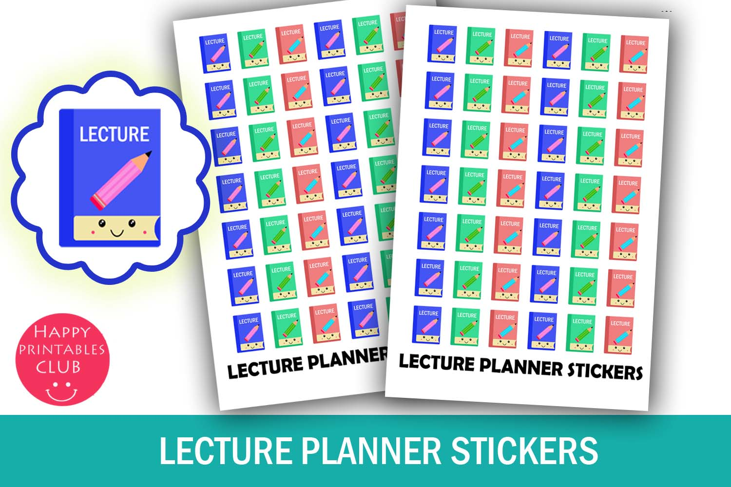 Lecture Planner Stickers- Class Lecture Reminder Stickers example image 1