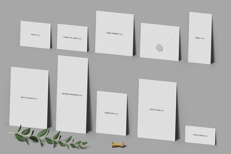 Wedding Invitation Set Mockup example image 9