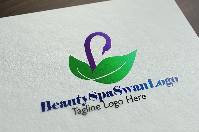 Premium Beauty Spa Swan Logo example image 3
