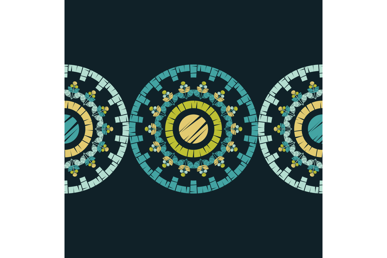 Polka dot ornament. Set of 10 seamless patterns. example image 7