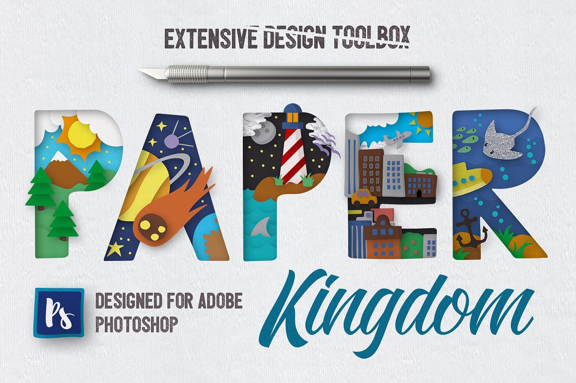 Paper Kingdom For Photoshop example image 1