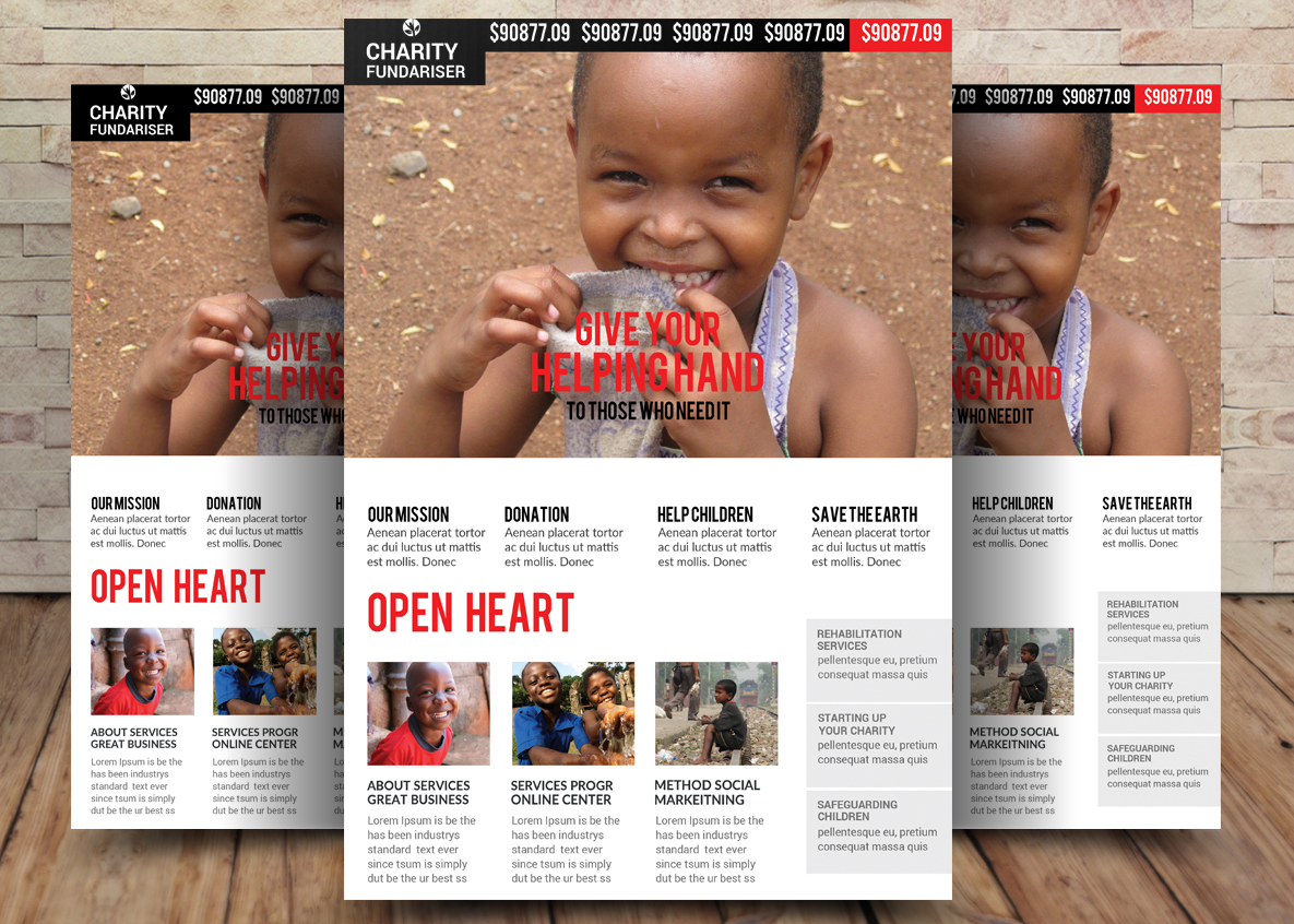 Charity Bundle Flyer 4in1 example image 2