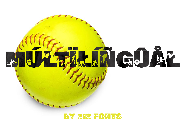 212 Softball Caps Display Font Softball Player Alphabet OTF example image 3