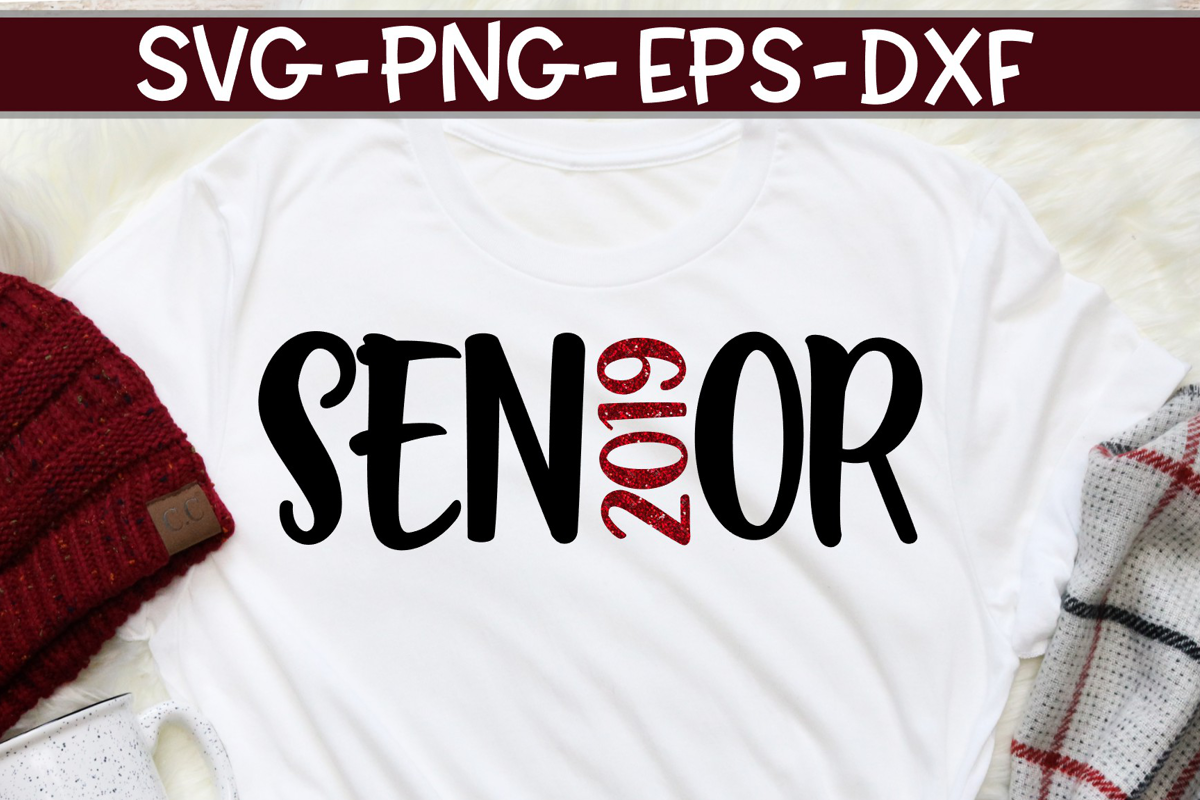 Senior 2019 - Graduate - SVG DXF EPS PNG example image 1