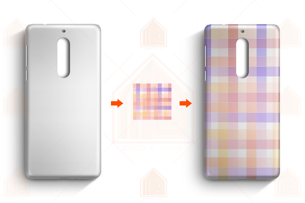 Nokia 5 3D Case Design Mockup Back View example image 3