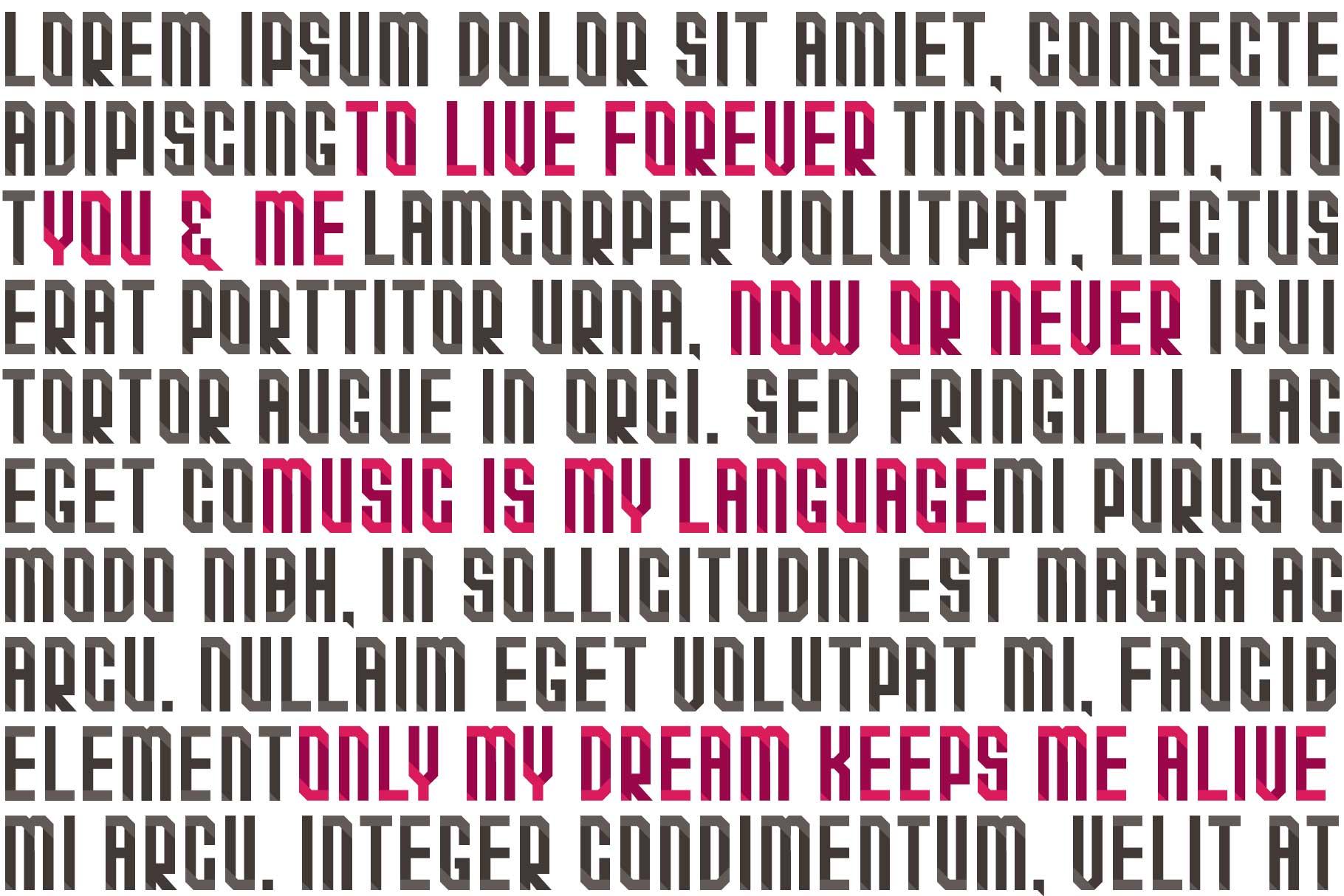 Quarta font family example image 9