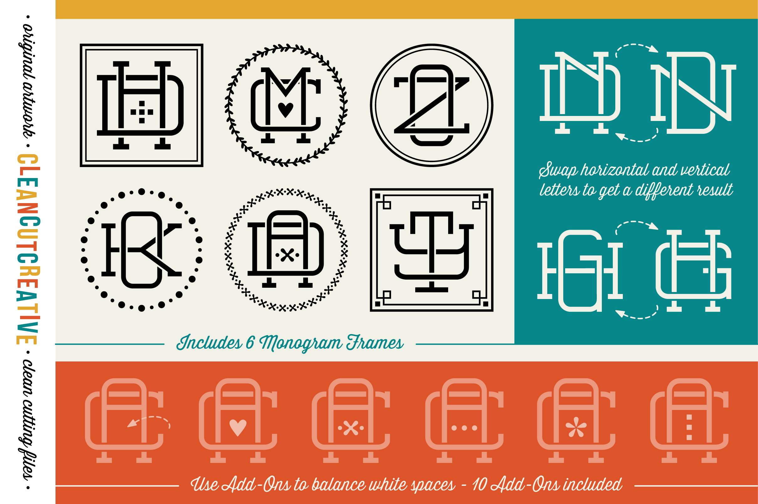 graphic about Printable Monogram Maker called Magical Monogram Manufacturer - Do it yourself intertwinedinterlocking SVG