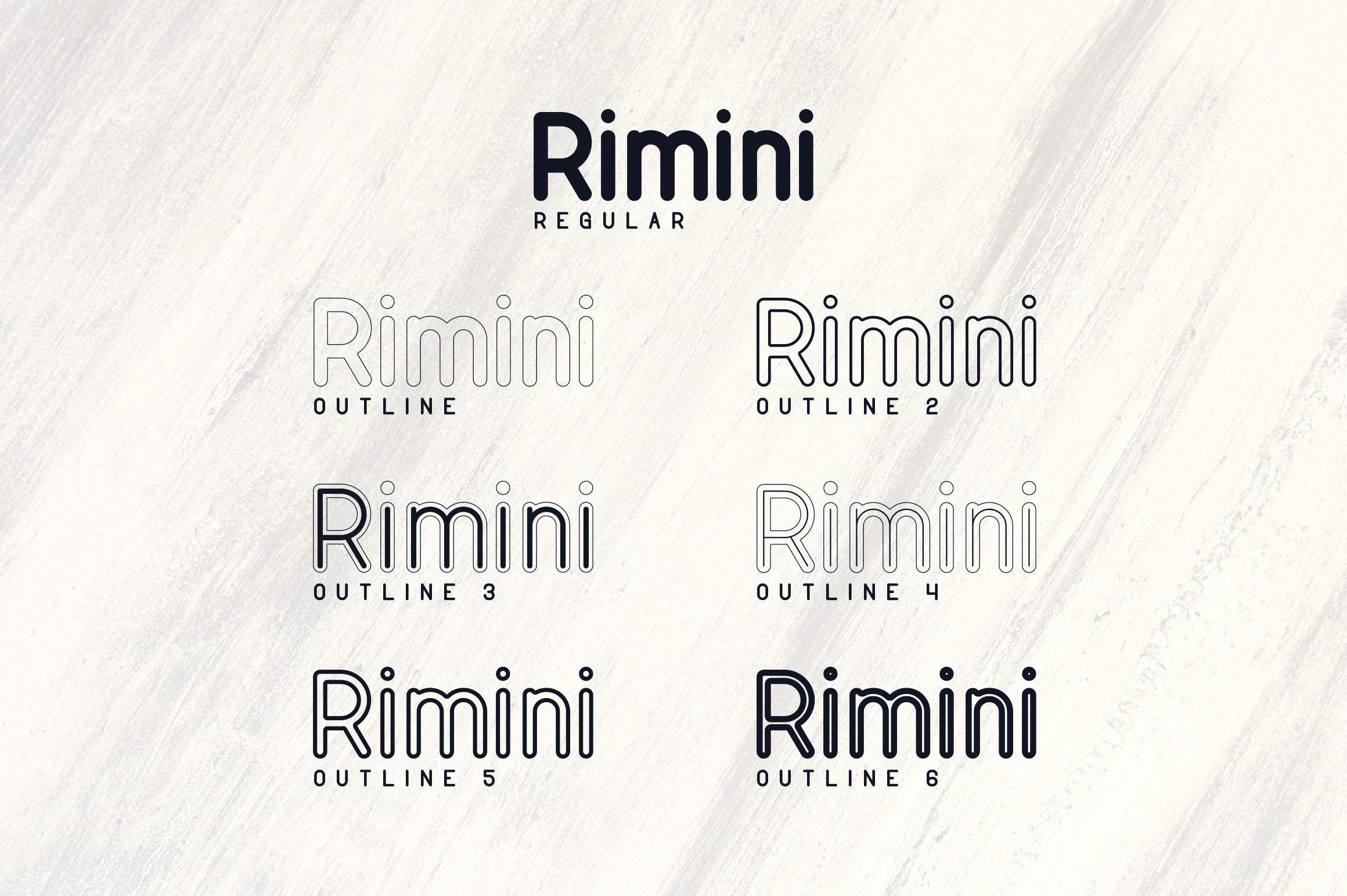 Rimini-Rounded Sans Serif font example image 2