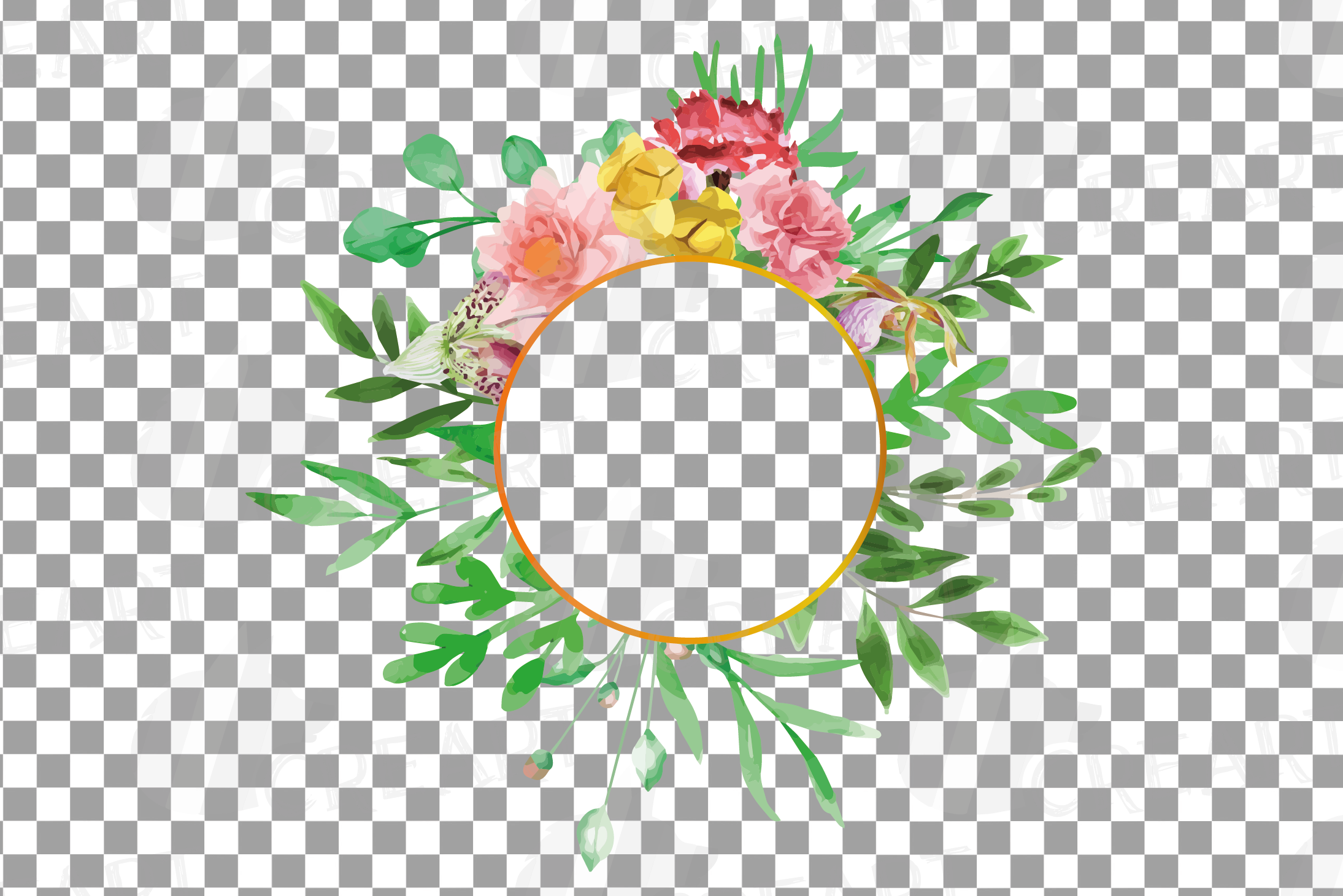 Watercolor floral floral frames and borders clip art pack example image 23