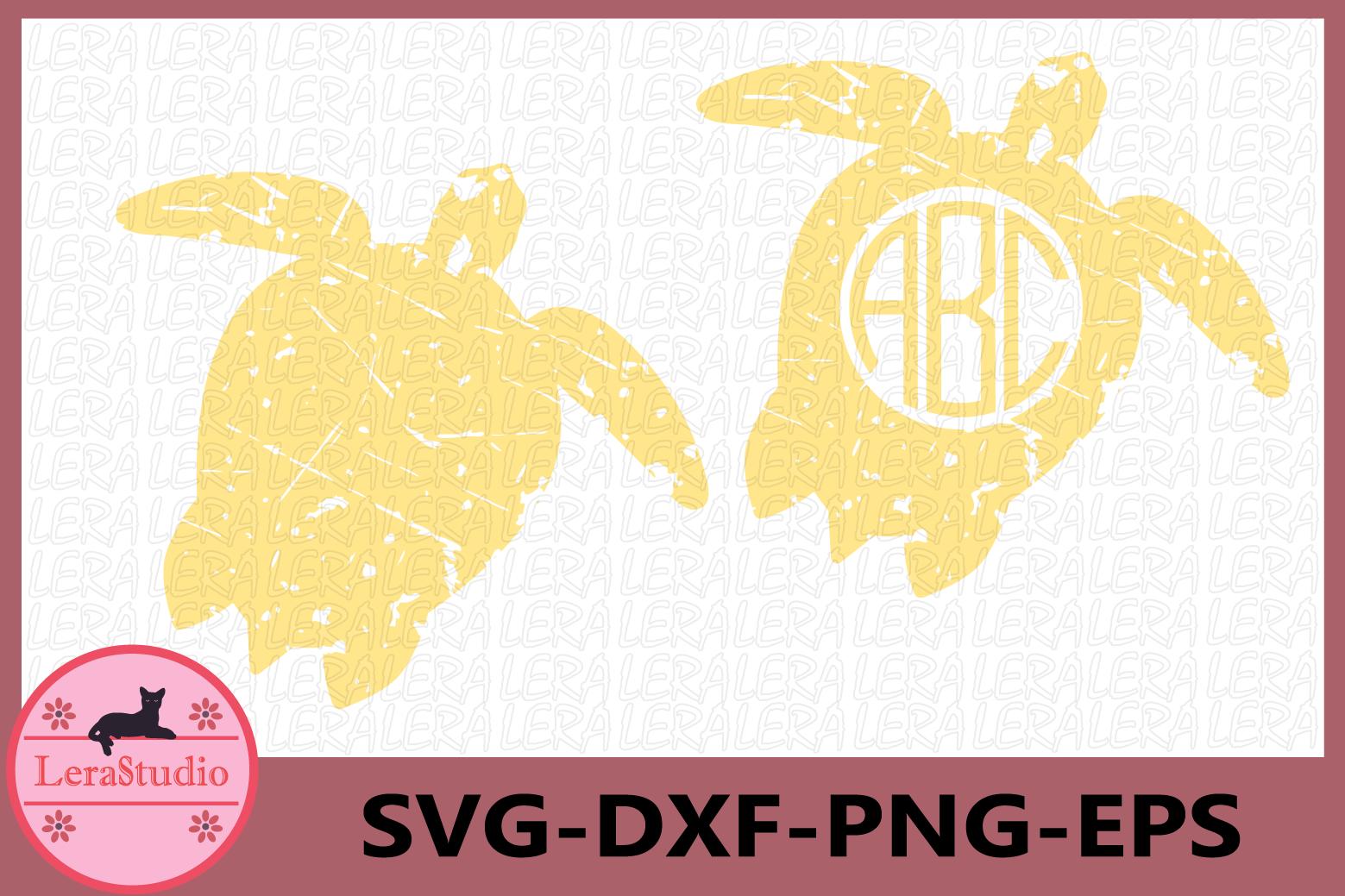 Turtle Grunge svg, Turtle Monogram Svg, Turtle SVG, Turtle example image 1