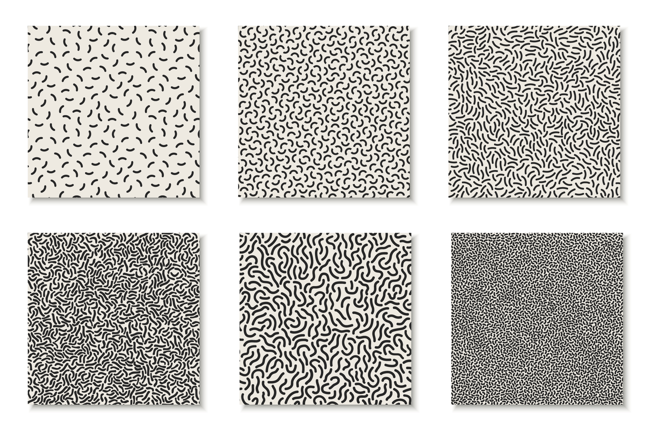 Seamless memphis vector patterns - swatches library. example image 8