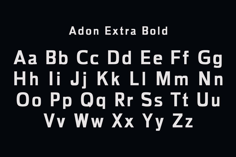 Adon Sans Serif Typeface example image 3