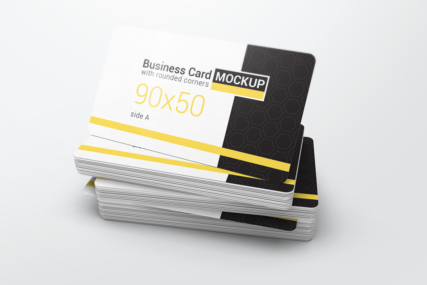 Business Card With Rounded Corners Mockups example image 3