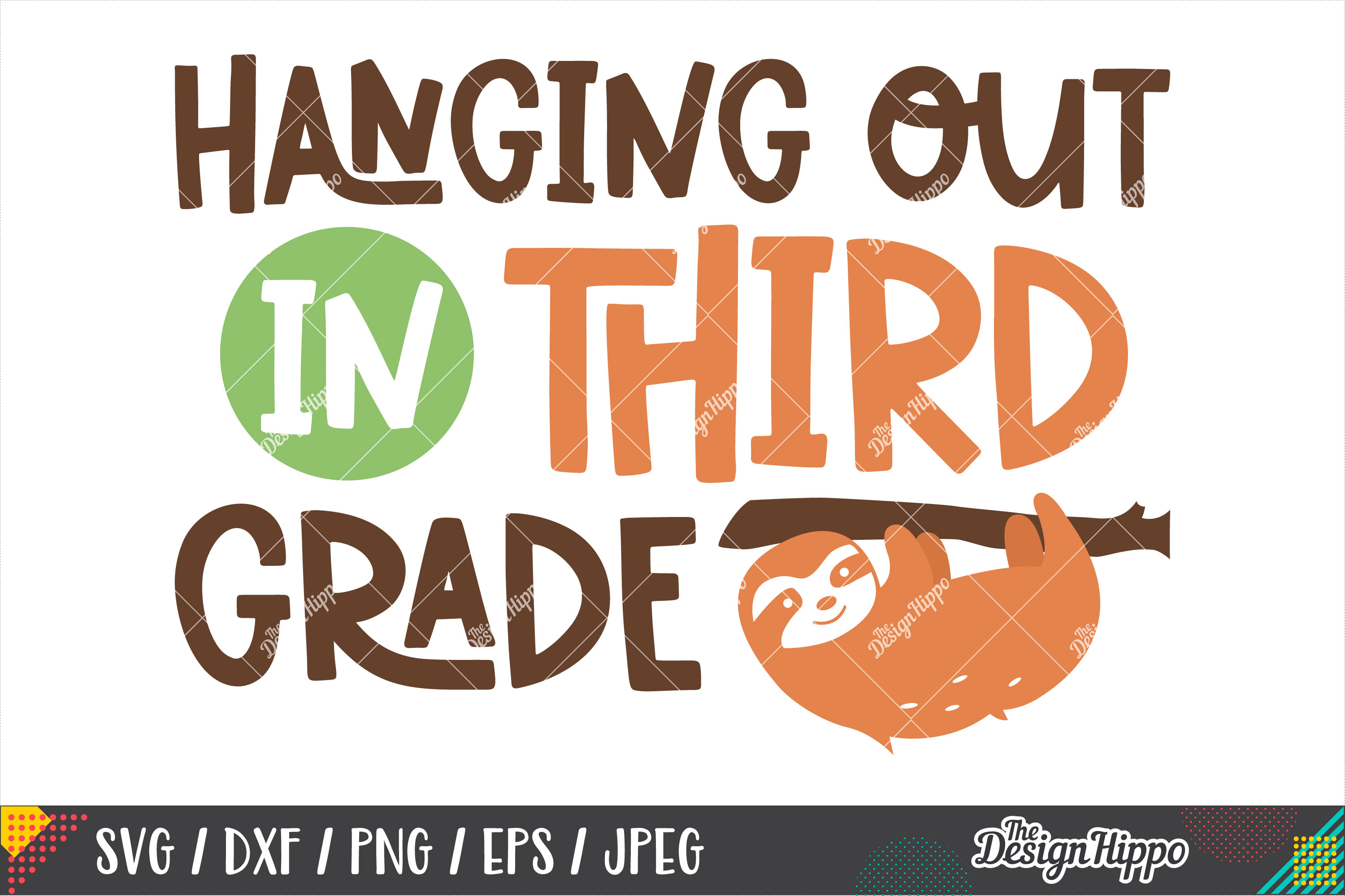 Hanging Out In Third Grade, 3rd Grade Teacher SVG DXF PNG example image 2