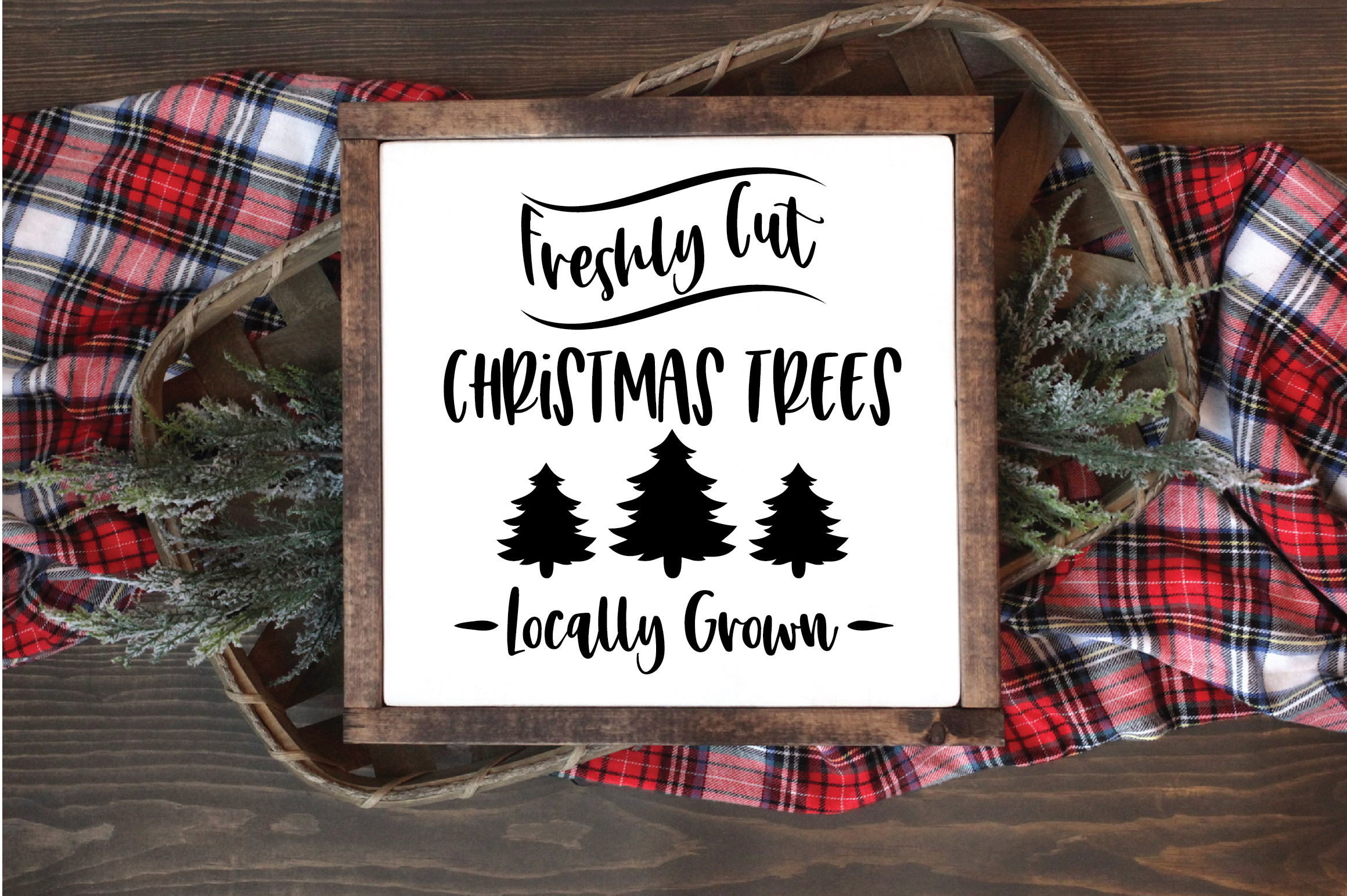 Christmas SVG Cut File - Freshly Cut Christmas Trees SVG DXF example image 5