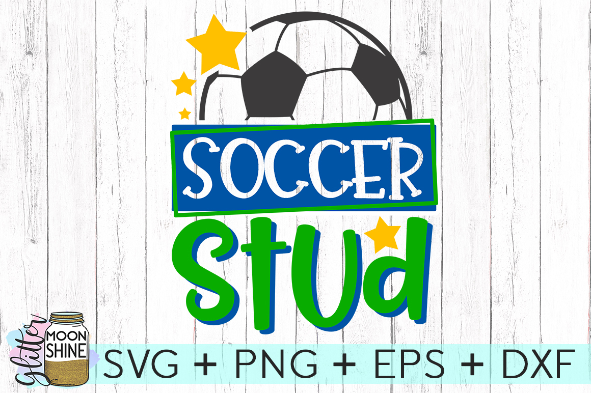 Soccer Stud SVG DXF PNG EPS Cutting Files example image 1