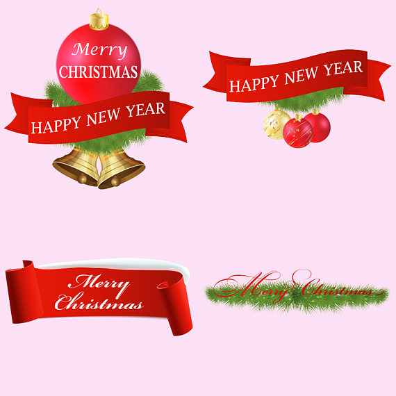 Christmas Banners Clipart example image 3