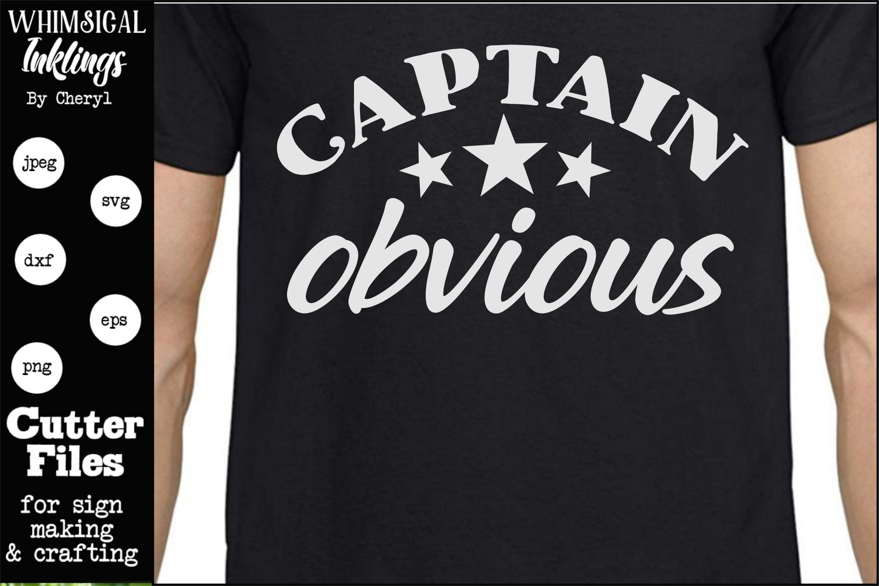 Captain Obvious SVG example image 1