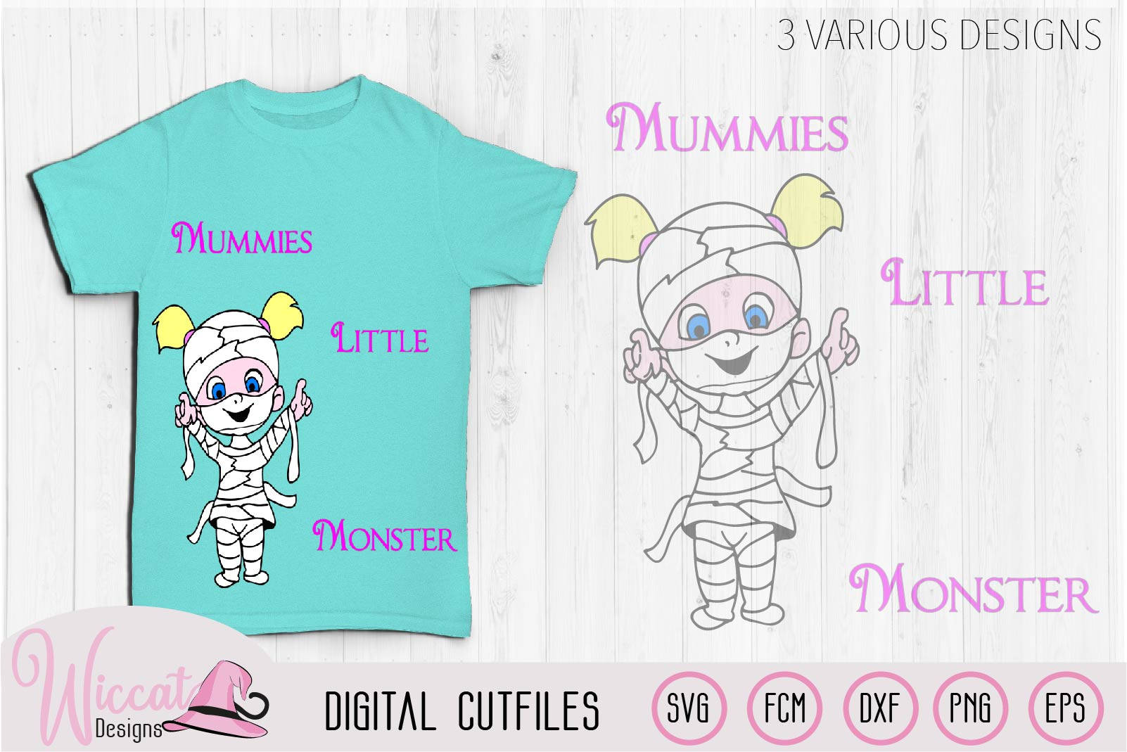 Mummies little monster svg cut file example image 2