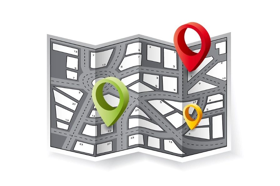City map with navigation icons. example image 1