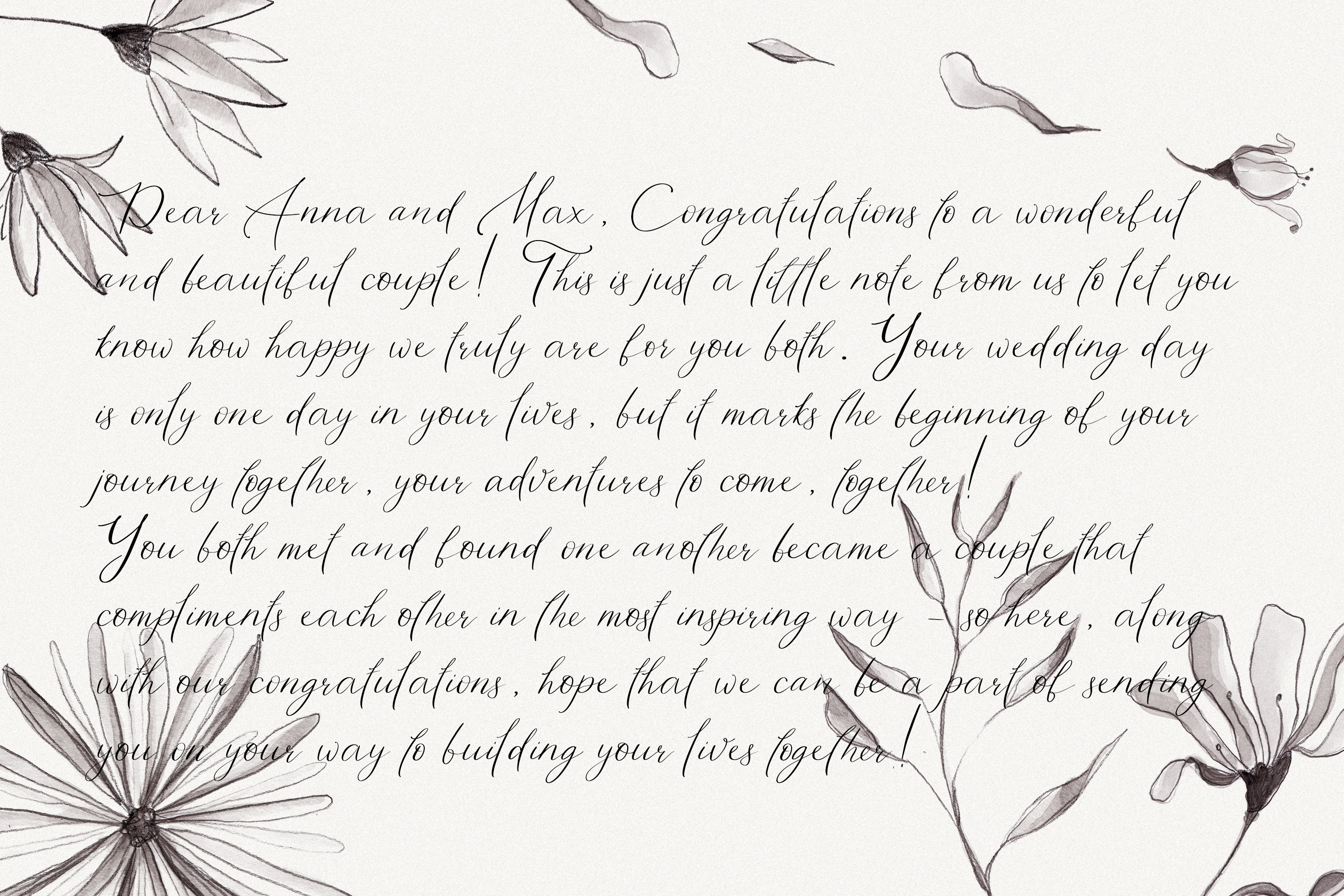 Morning Mood, calligraphy hand written font example image 6