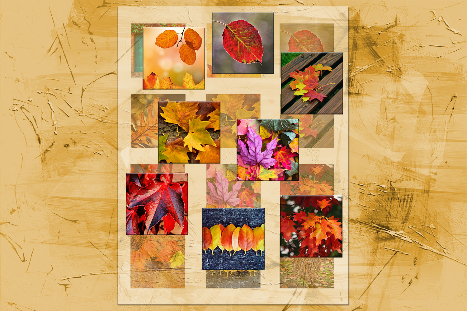 Fall Leaves, Digital Collage Sheet, Printable Images,SALE example image 1