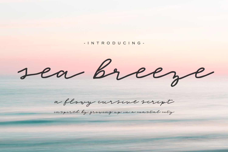 Sea Breeze Signature Style Script example image 1