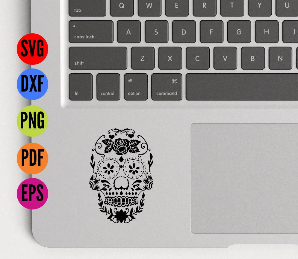 Sugar Skull Stencil SVG Cutting File example image 5