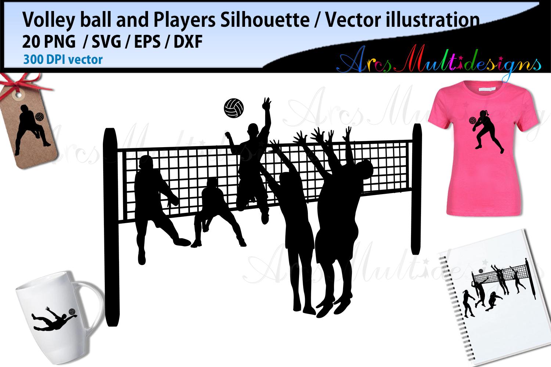 Volley ball , volley ball silhouette, volley ball svg example image 2