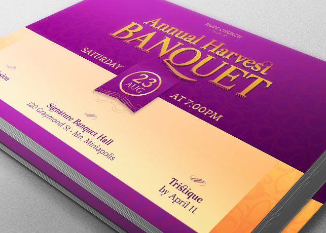 Harvest Banquet Template Bundle example image 2