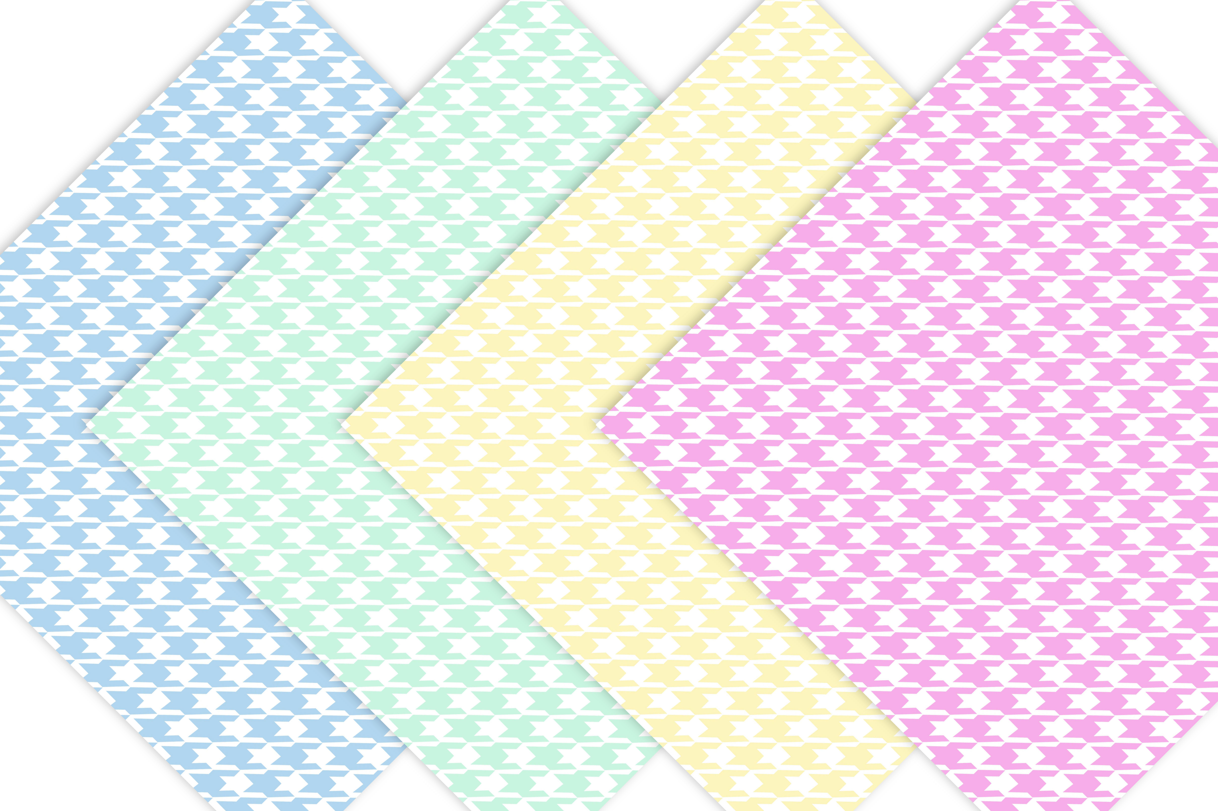 Pastel Houndstooth Digital Paper example image 2