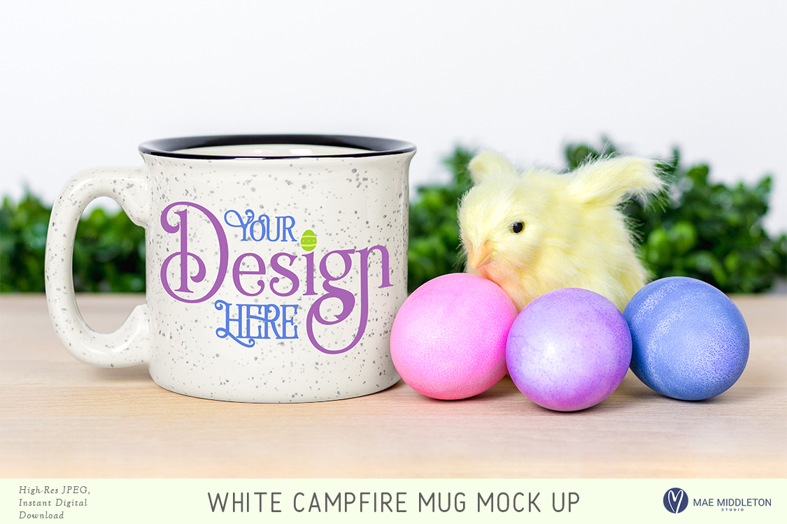 Campfire mug mock up for Easter example image 1
