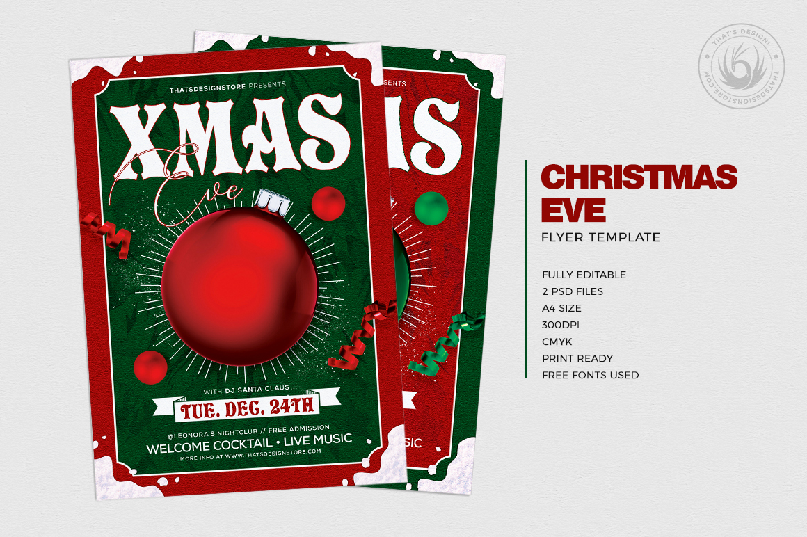 Christmas Eve Flyer Template V9 example image 2
