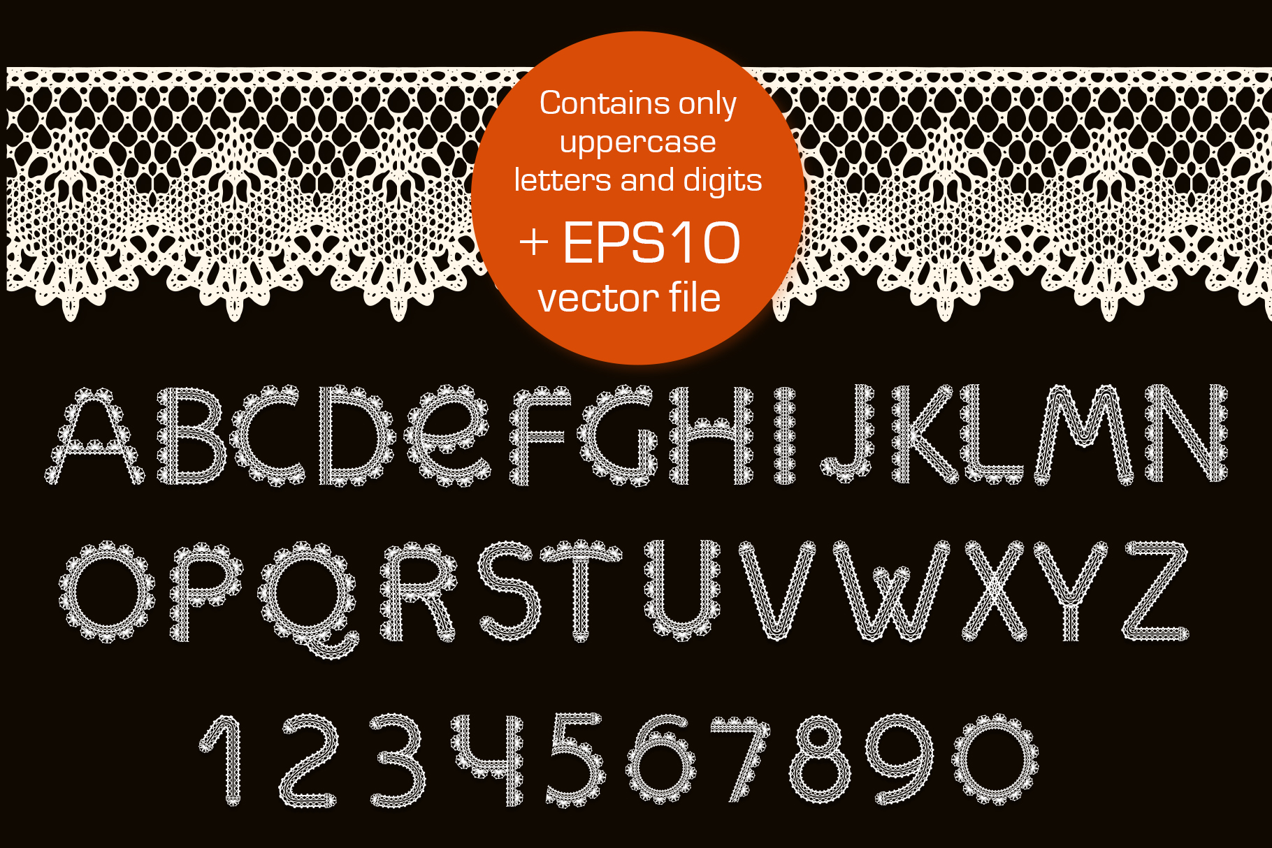 Crochet - svg craft lace font example image 3