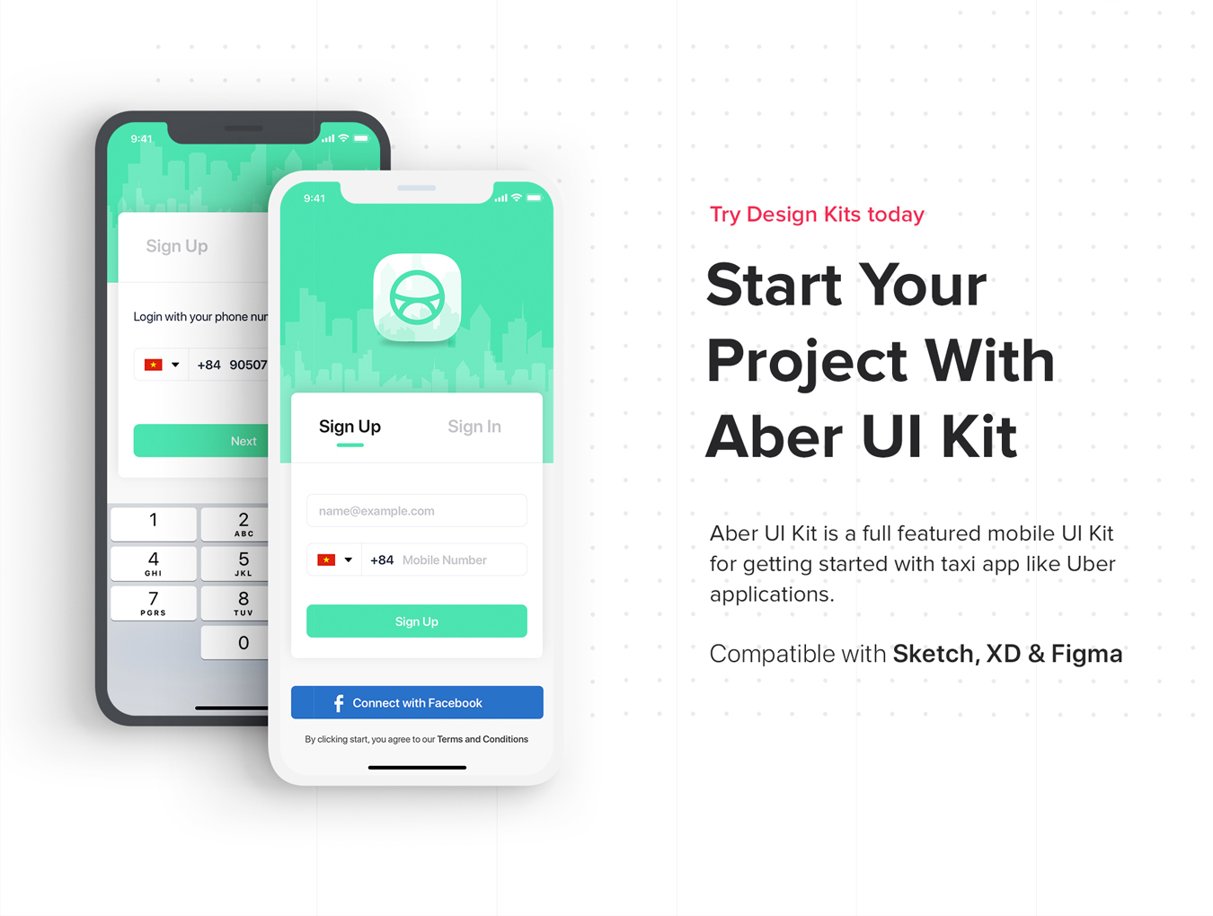 Aber Mobile UI Kit example image 3