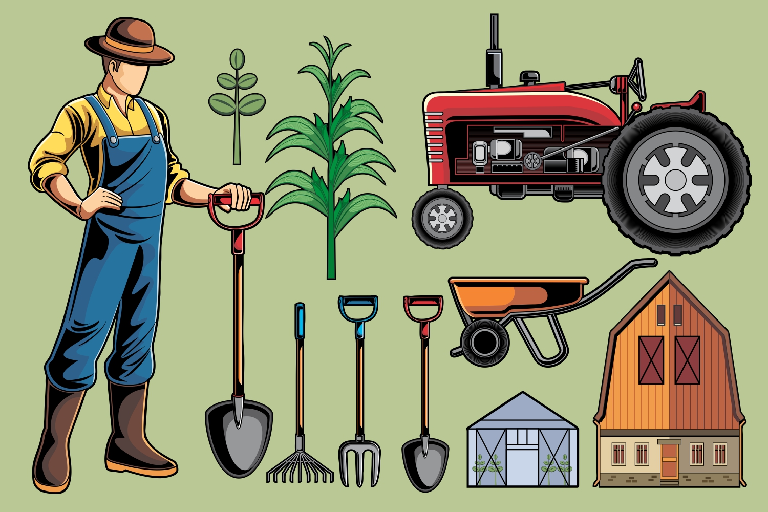 Farmer Vector Pack example image 1