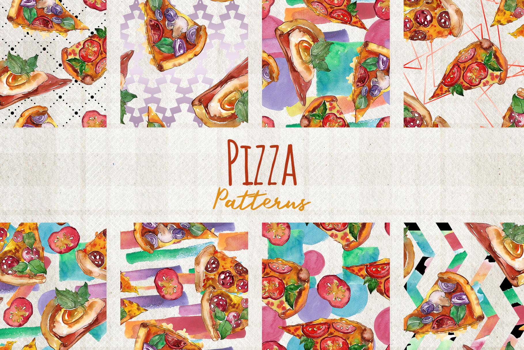 Hawaiian Pizza Watercolor png example image 2