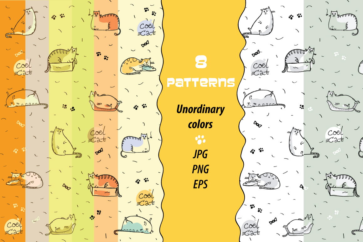 Cool Cat collection patterns, prints example image 2