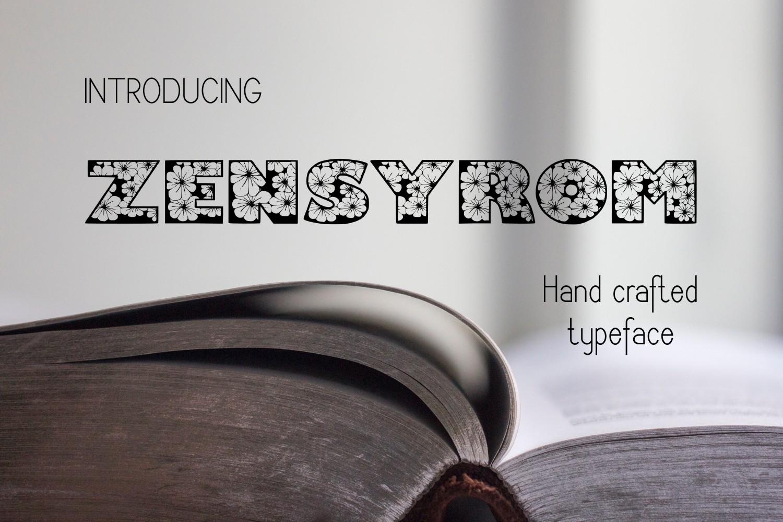 Zensyrom font example image 1