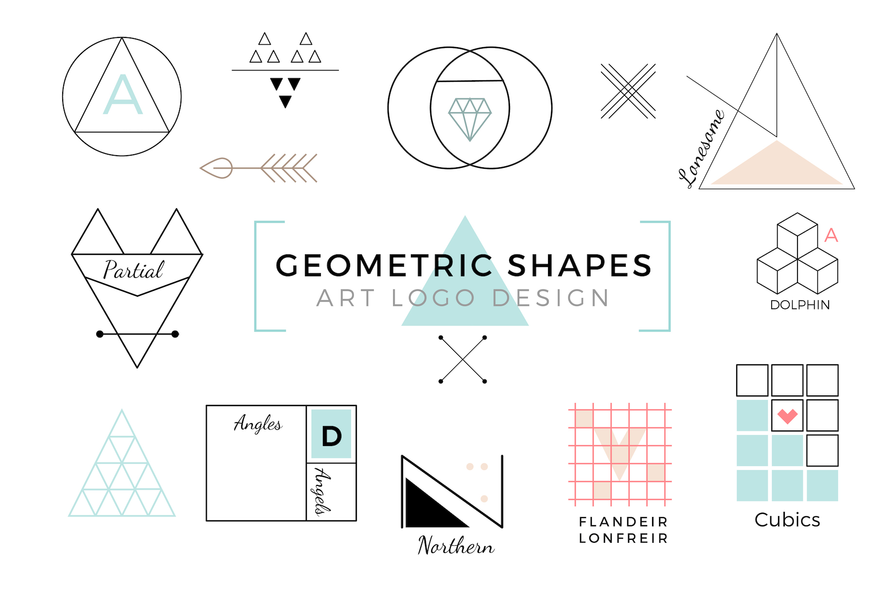 Vector Geometric Shapes & Art Logo example image 1