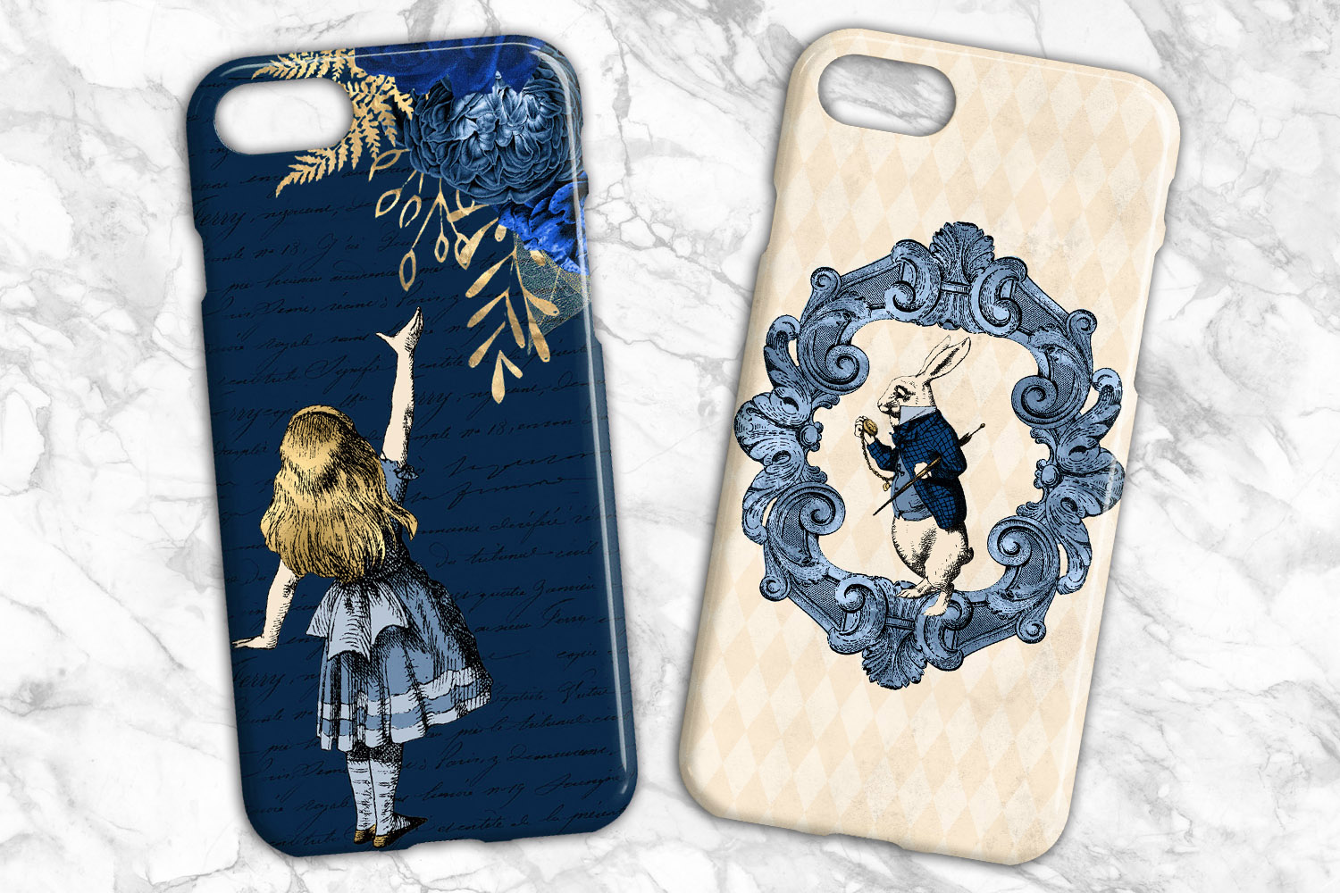 Navy Blue and Gold Alice in Wonderland Graphics example image 4